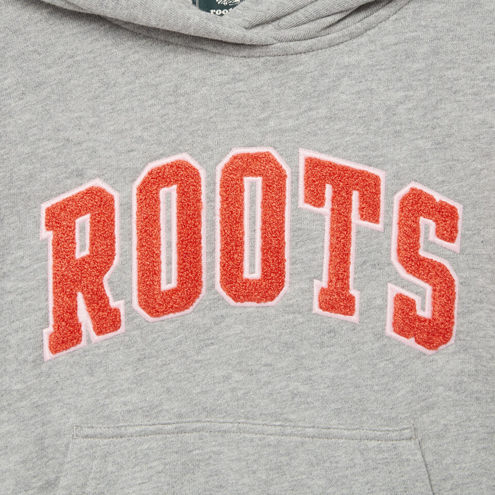 Roots-Kids Categories-Girls Roots Varsity Kanga Hoody-Grey Mix-D