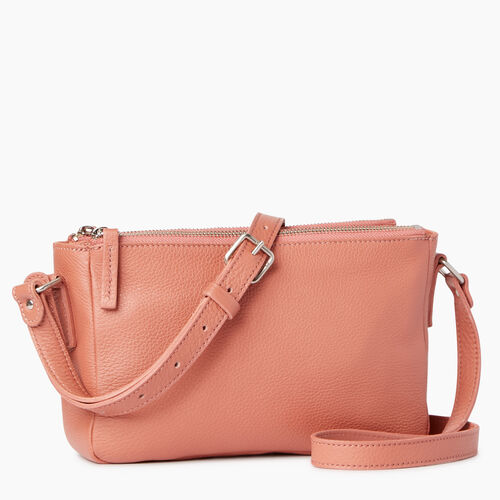 Roots-Leather Categories-Main Street Crossbody-Canyon Rose-A