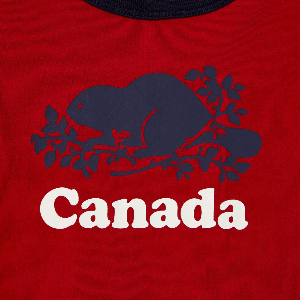 Roots-Kids Our Favourite New Arrivals-Baby Cooper Canada Ringer T-shirt-Sage Red-D