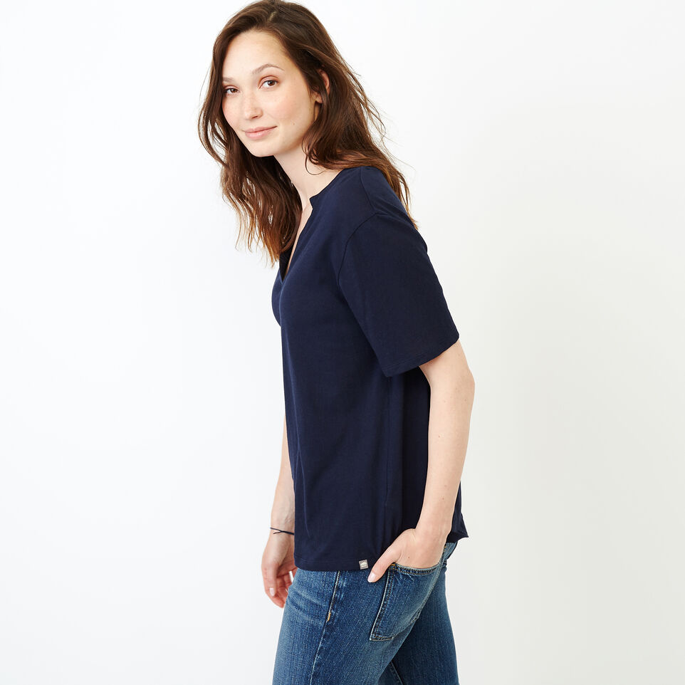 Roots-New For August Women-Penny Top-Navy Blazer-C