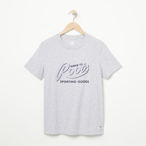 Roots-New For May Women-Womens Roots Sporting Goods T-shirt-Snowy Ice Mix-A