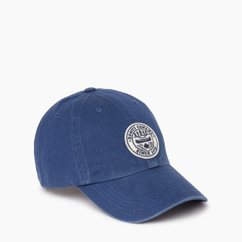 Roots-Men Accessories-Badge Baseball Cap-Navy-A
