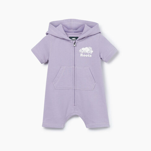 Roots-Kids New Arrivals-Baby Cooper Beaver Kanga Romper-Wisteria-A