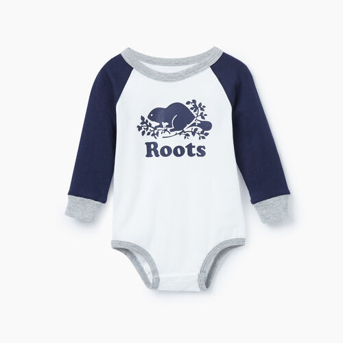Roots-Kids Our Favourite New Arrivals-Baby Cooper Raglan Bodysuit-Navy Blazer-A