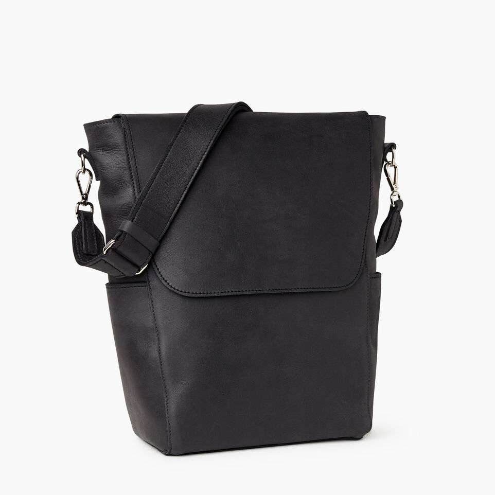 Roots-Leather Our Favourite New Arrivals-Journey Bag-Jet Black-A