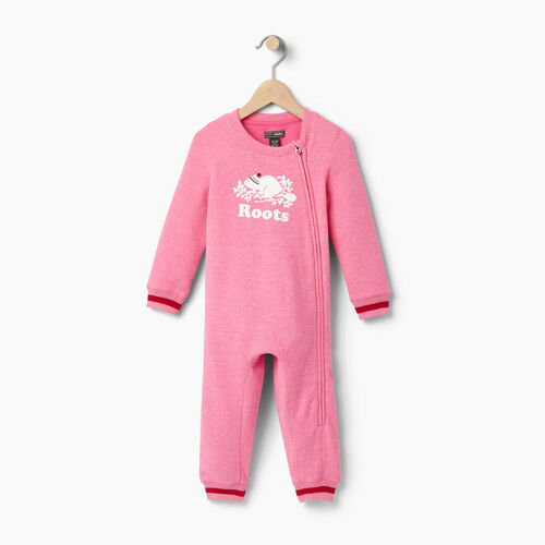 Roots-Clearance Baby-Baby Buddy Romper-Pink Pepper-A