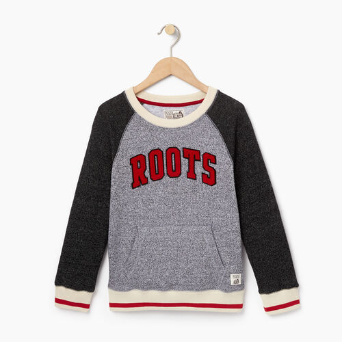 Roots-Kids Categories-Boys Roots Cabin Crew Sweatshirt-Salt & Pepper-A