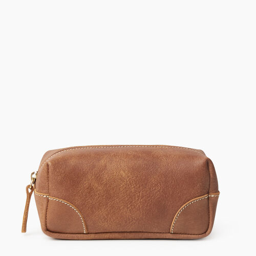 Roots-Leather New Arrivals-Small Banff Pouch Tribe-Natural-A