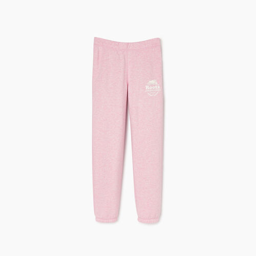 Roots-Kids Bottoms-Girls Laurel Sweatpant-Fragrant Lilac Mix-A