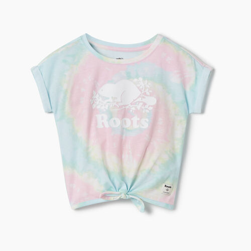 Roots-Kids New Arrivals-Toddler Tie T-shirt-Multi-A