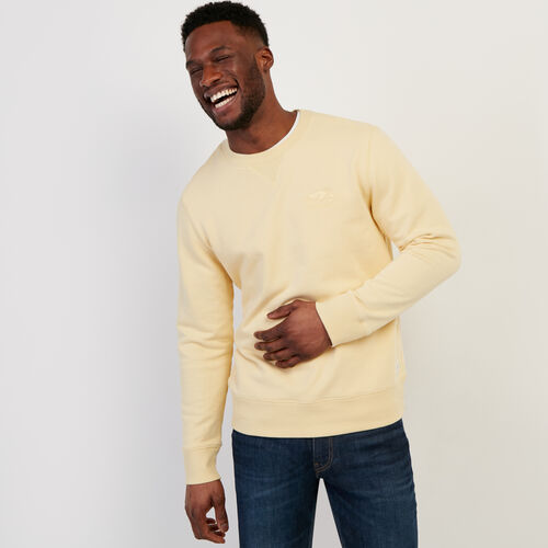 Roots-Men Clothing-Roots Organic Crew Sweatshirt-Italian Straw-A