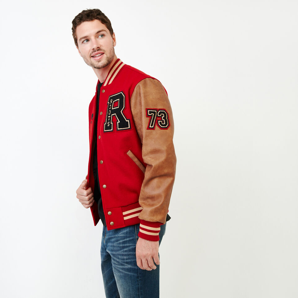 Roots-Men Award Jackets-Roots Script Award Jacket-Red-C