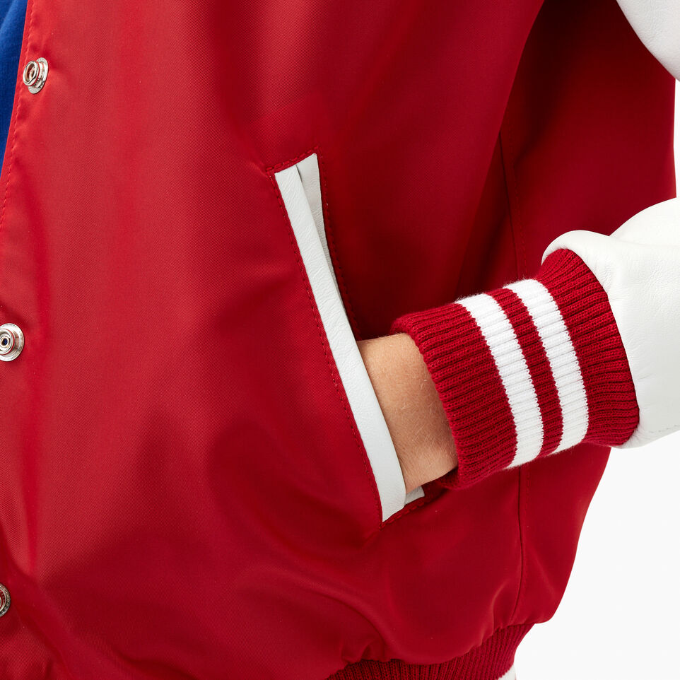 Roots-Leather Categories-Retro Varsity Jacket-Red-E