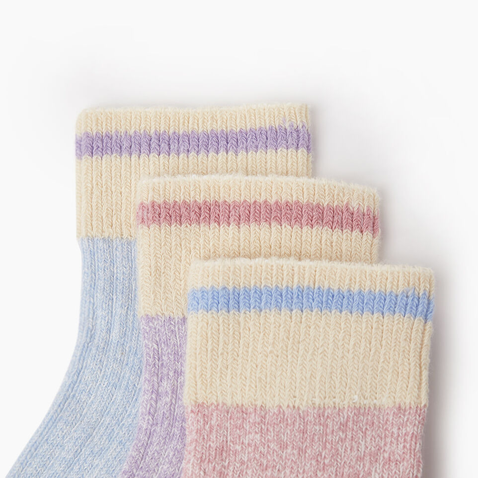 Roots-undefined-Kids Cotton Cabin Ankle Sock 3 Pack-undefined-C