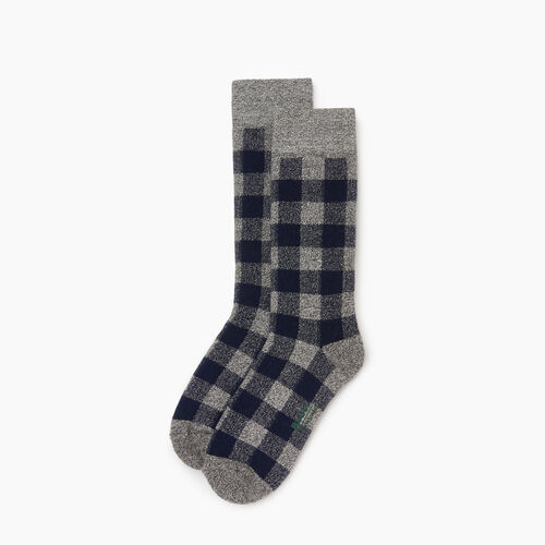 Roots-Kids Girls-Kids Park Plaid Boot Sock-Navy Blazer-A