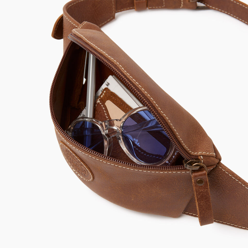 Roots-Leather Our Favourite New Arrivals-Small Fanny Pack-Natural-D
