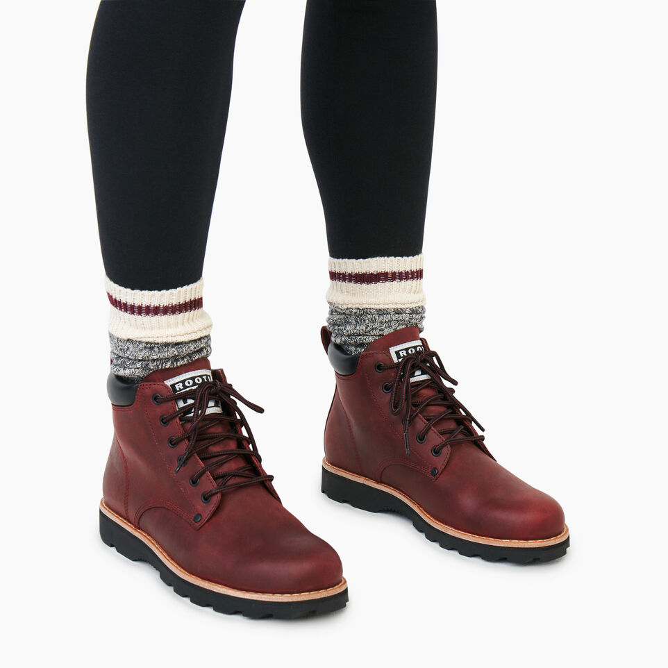 Roots-Women Clothing-Womens Tuff Boot-Red Sea-B