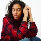 Roots-Women Our Favourite New Arrivals-Flannel Shirt-Cabin Red-E