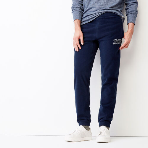 Roots-Winter Sale Men-Vault Polar Slim Sweatpant-Navy Blazer-A
