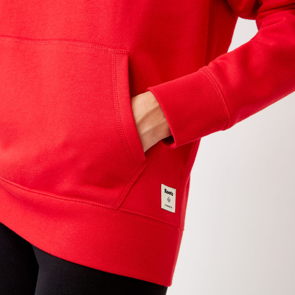 Roots-Clearance Women-Anniversary Hoody-Racing Red-E