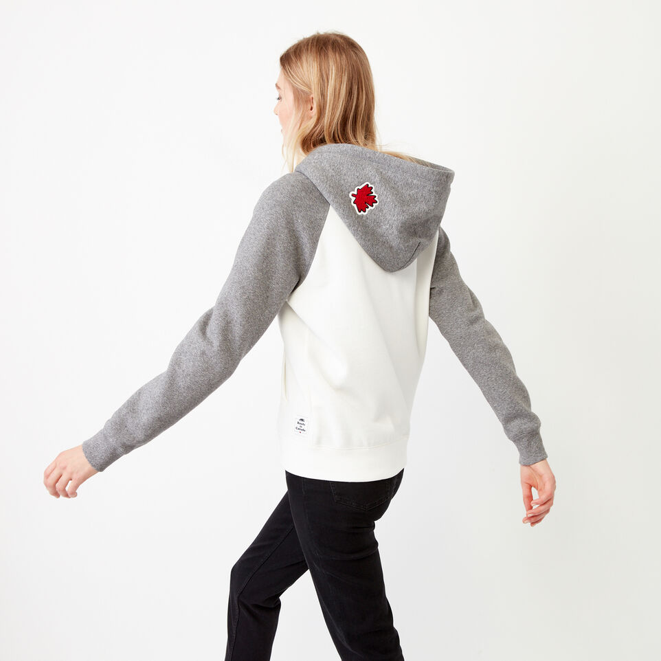 Roots-Women Our Favourite New Arrivals-Canada Full Zip Hoody-Cloudy White-D