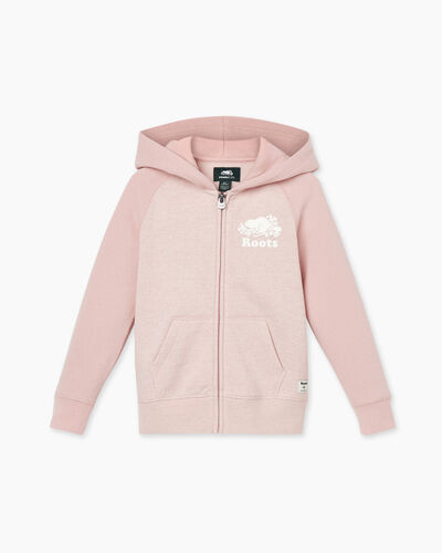 Roots-Sweats Toddler Girls-Toddler Original Full Zip Hoody-Pale Mauve Pepper-A