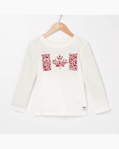 Roots-Sale Toddler-Toddler Flag Fill Canadiana T-shirt-Ivory-A