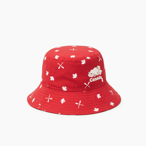 Roots-Kids Toddler Boys-Toddler Canada Aop Bucket Hat-Red-A