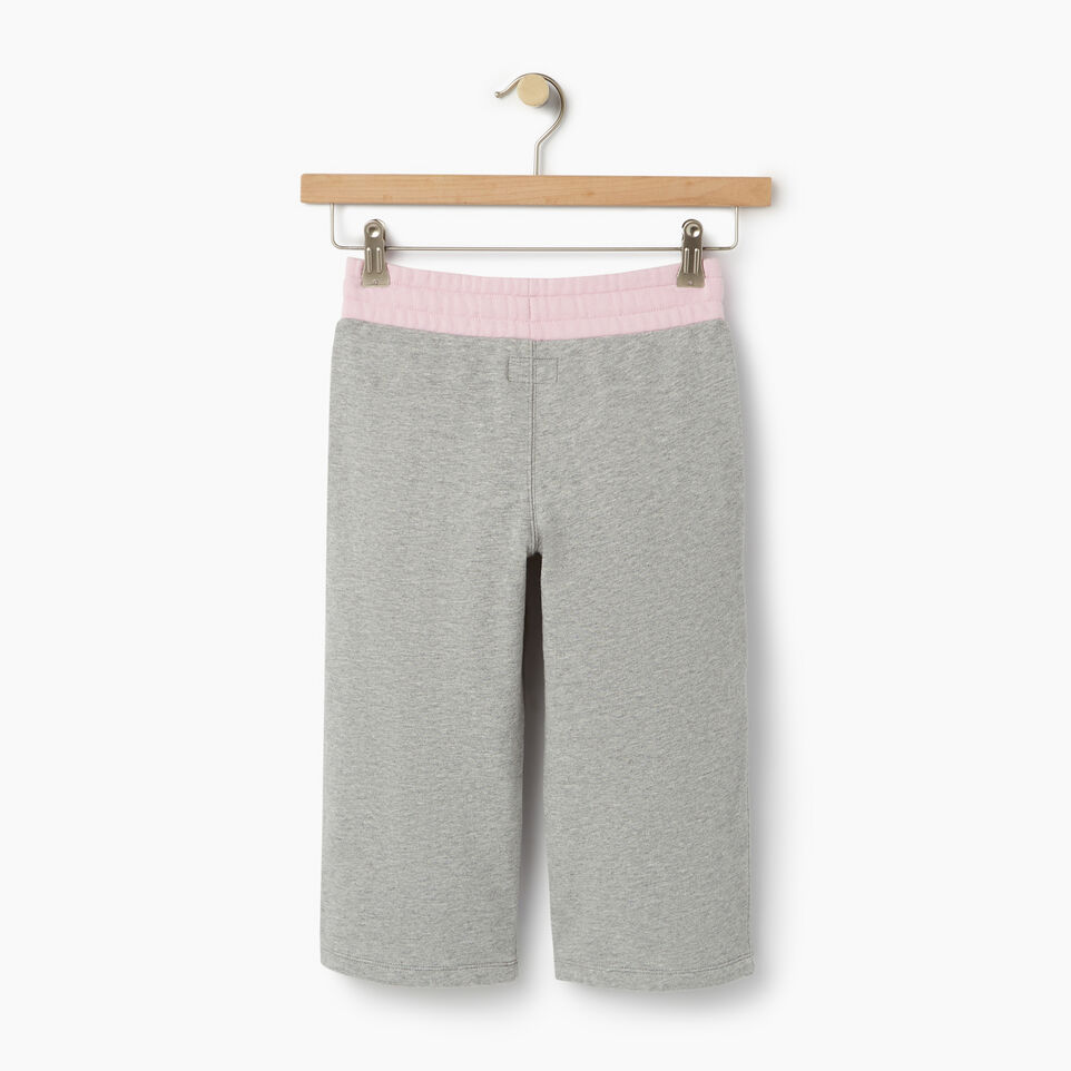 Roots-Clearance Kids-Girls Colour Block Sweatpant-Grey Mix-B
