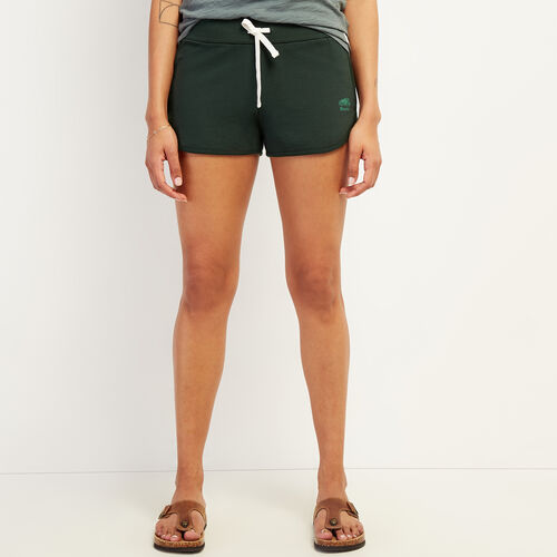 Roots-Women Clothing-Kawartha Running Short-Park Green-A