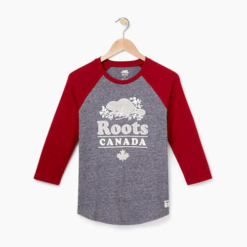 Roots-Winter Sale 30-40% Off - View All-Womens York Baseball Slim Top-Cabin Red-A