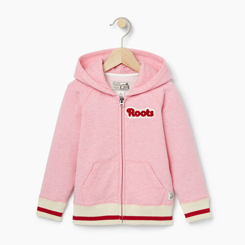 Roots-Kids Toddler Girls-Toddler Cabin Full Zip Hoody-Sea Pink Mix-A