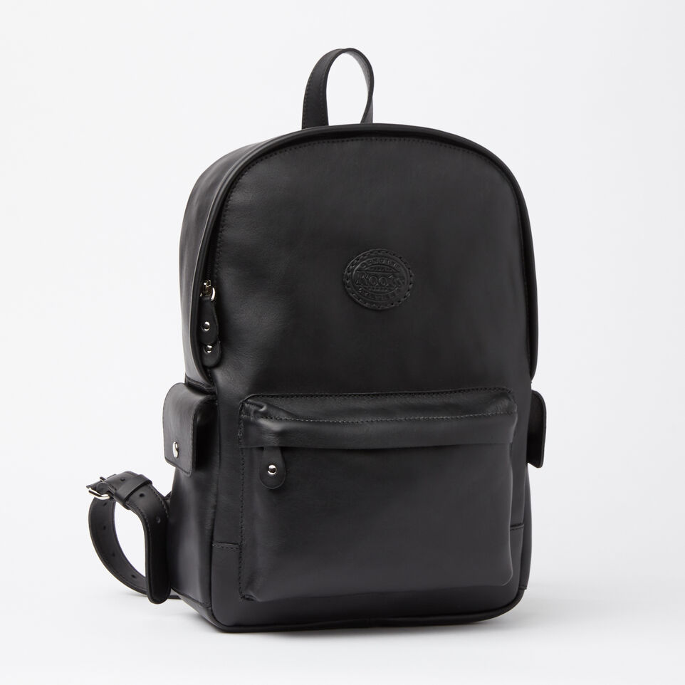 Roots-Winter Sale Leather-Central Pack Box-Black-A