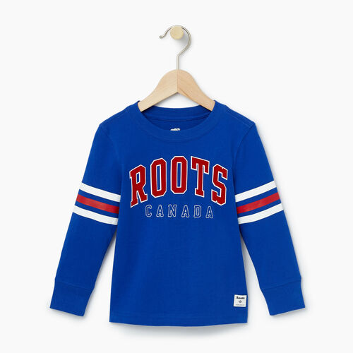 Roots-Kids T-shirts-Toddler Arch Roots Top-Kings Blue-A