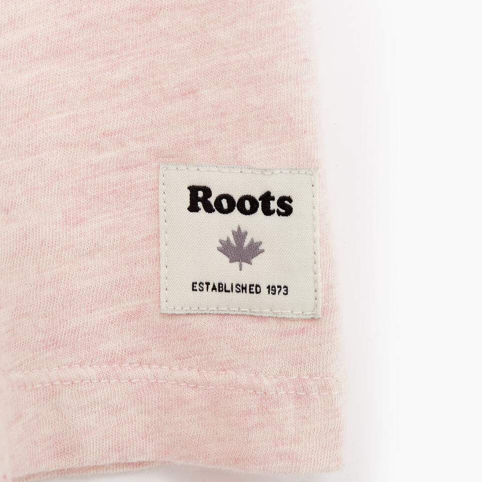 Roots-Women Graphic T-shirts-Womens Soleil T-shirt-Silver Pink Mix-D