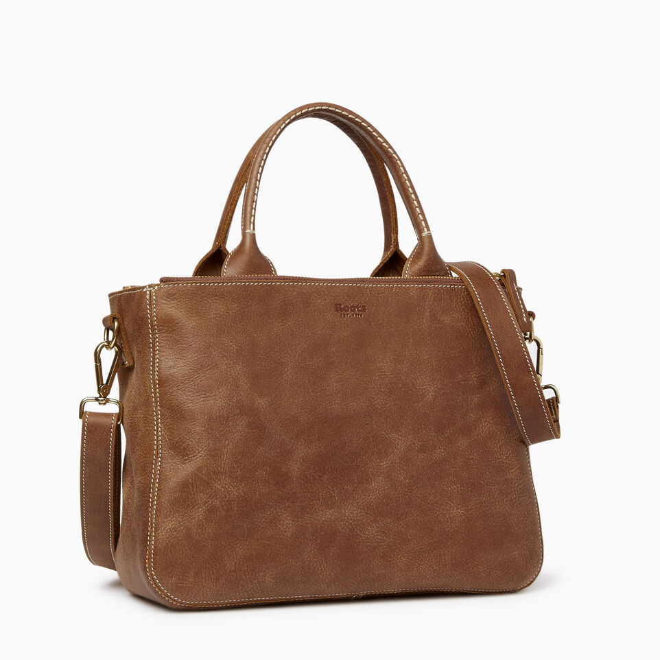 Roots-Leather  Handcrafted By Us Our Favourite New Arrivals-Riverdale Tote-Natural-C