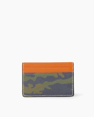 Roots-Sale Leather-Card Holder Camo-Green Camo-A