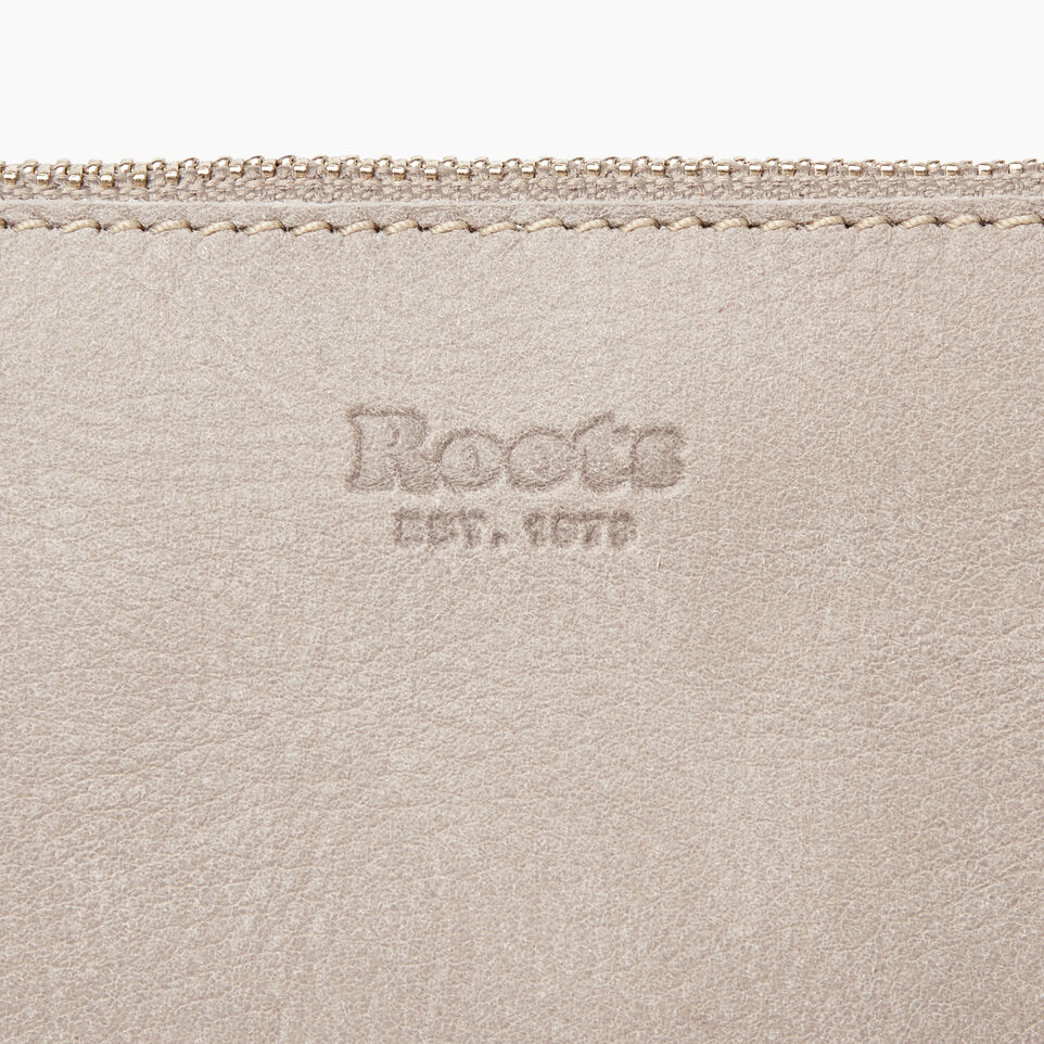 Roots-Leather  Handcrafted By Us Handbags-Festival Bag-Sterling Grey-E