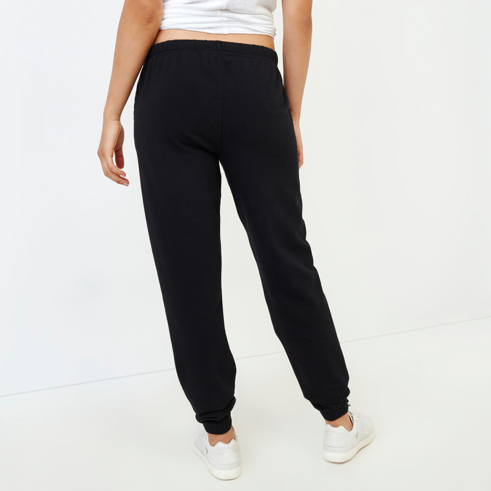 Roots-Women Our Favourite New Arrivals-Original Cozy Sweatpant-Black-D