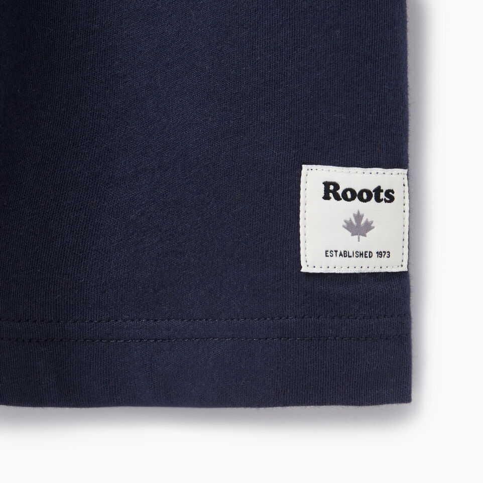 Roots-New For August Men-Mens Rainbow T-shirt-Navy Blazer-C
