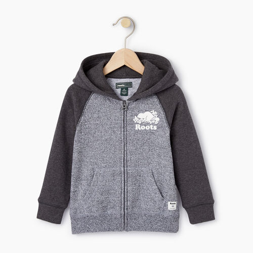Roots-Clearance Kids-Toddler Original Full Zip Hoody-Charcoal Mix-A