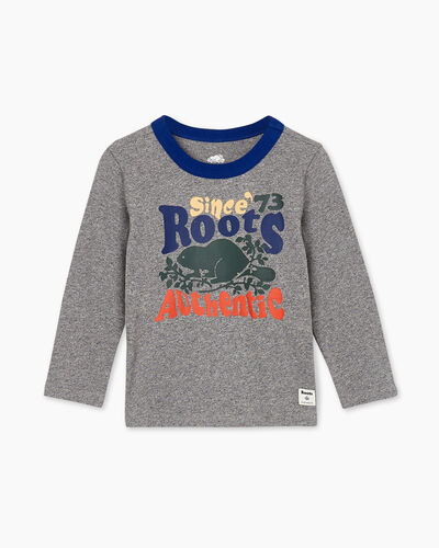 Roots-Kids Toddler Boys-Toddler Roots Authentic T-shirt-Salt & Pepper-A