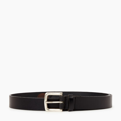 Roots-Men Leather Accessories-Roots Mens Classic Belt-Black-A