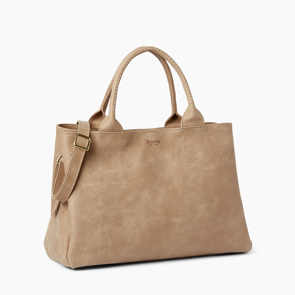 Roots-Leather  Handcrafted By Us Handbags-Mont Royal Bag-Sand-A
