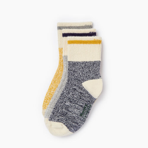 Roots-Kids Categories-Kids Cotton Cabin Ankle Sock 3 Pack-Navy-A