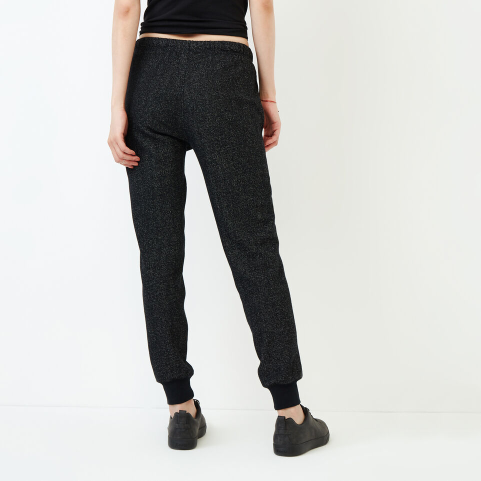 Roots-Women Our Favourite New Arrivals-Slim Cuff Sweatpant - Tall-Black Pepper-D