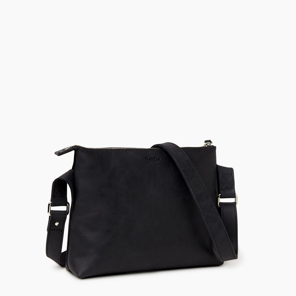 Roots-Leather New Arrivals-Journey Crossbody Tribe-Jet Black-A