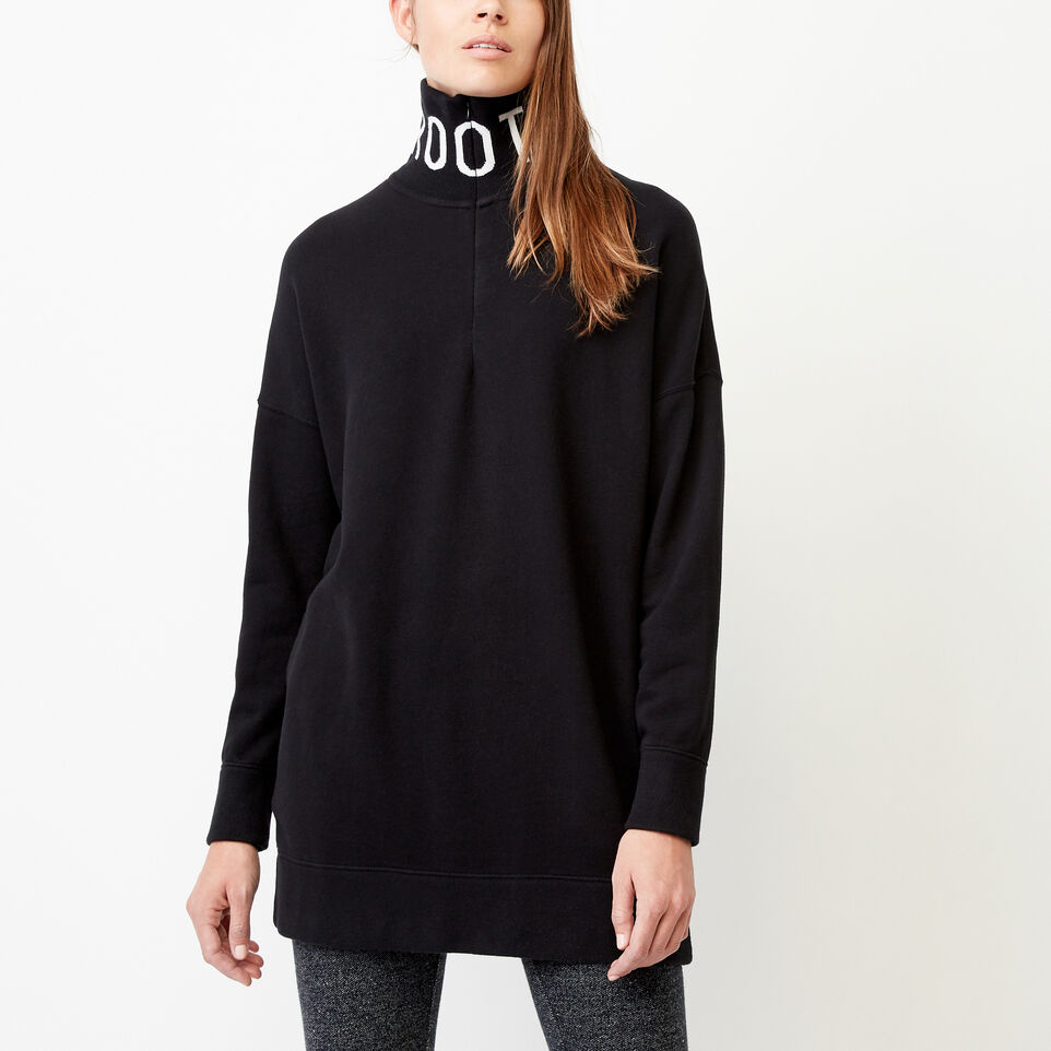 Roots-Clearance Women-Gravelle Zip Stein Tunic-Black-A