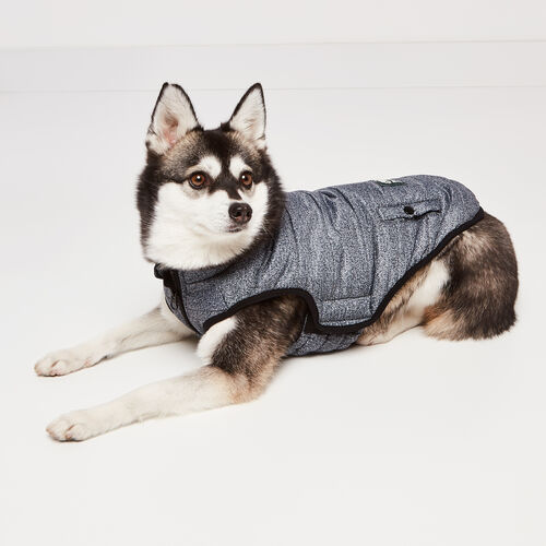 Roots-New For November Roots X Canada Pooch®-Canada Pooch Puffer Vest Size 16-Salt & Pepper-A