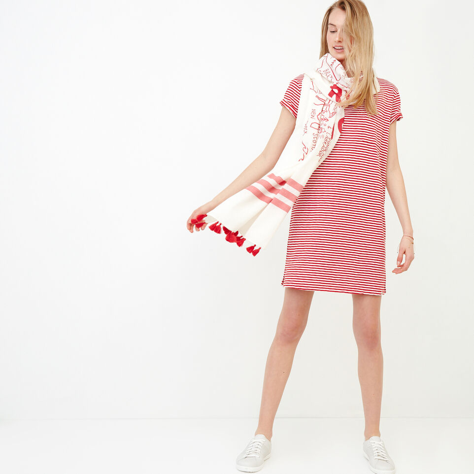 Roots-Women Our Favourite New Arrivals-Madeira Pocket Dress-Sage Red-B